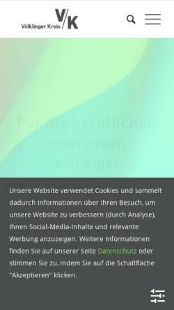 Vorschau der mobilen Webseite www.vk-online.de, Völklinger Kreis, VK e.V.