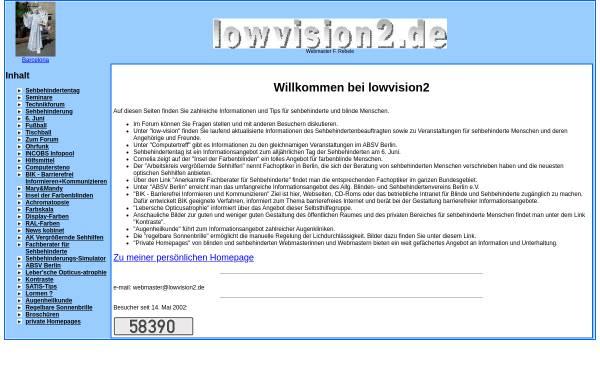 Vorschau von www.lowvision2.de, Informationen für sehbehinderte und blinde Menschen