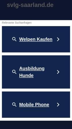 Vorschau der mobilen Webseite www.svlg-saarland.de, SV Verein für Deutsche Schäferhunde e.V.