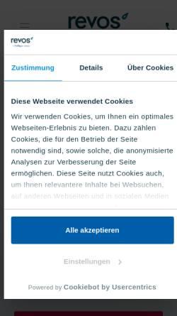 Vorschau der mobilen Webseite revos.de, Revos watercooler GmbH