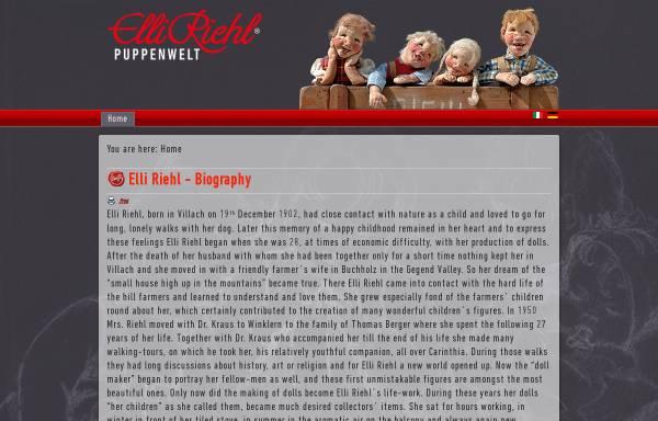 Vorschau von www.elli-riehl-puppenwelt.at, Puppenwelt Elli Riehl