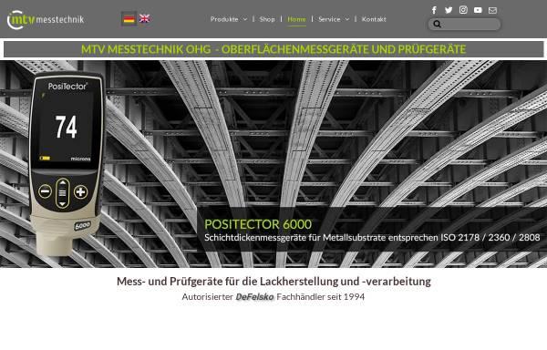 Vorschau von www.mtv-messtechnik.de, MTV Messtechnik oHG