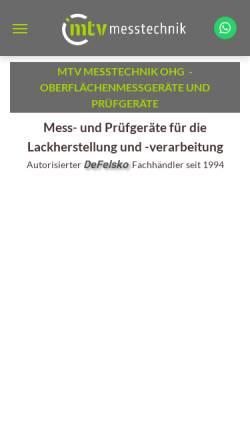Vorschau der mobilen Webseite www.mtv-messtechnik.de, MTV Messtechnik oHG