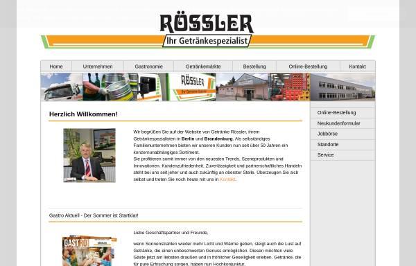 Getränkefachmärkte Rössler OHG: Getränke, Nahrungs- und Genussmittel ...