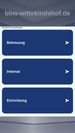 Vorschau der mobilen Webseite www.bbw-wittekindshof.de, BBW - Wittekindshof | Berufsbildungswerk Bad Oeynhausen