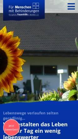 Vorschau der mobilen Webseite www.frauenheim-wengern.de, Frauenheim Wengern