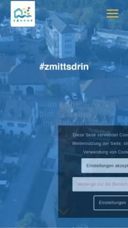 Vorschau der mobilen Webseite raebhof.ch, Räbhof Wohnhaus und Atelier