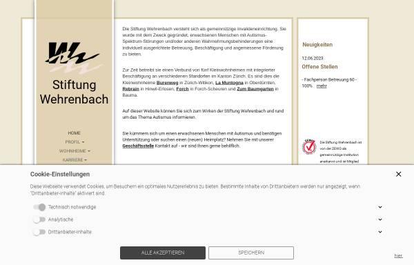 Vorschau von www.wehrenbach.ch, Stiftung Wehrenbach