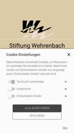 Vorschau der mobilen Webseite www.wehrenbach.ch, Stiftung Wehrenbach