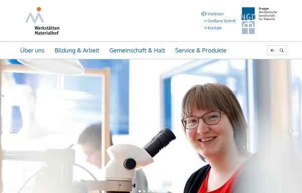 Vorschau von www.materialhof.de, Werkstätten Materialhof