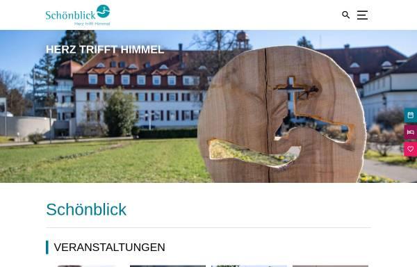 Vorschau von www.schoenblick-info.de, Freizeit- und Erholungsheim Schönblick