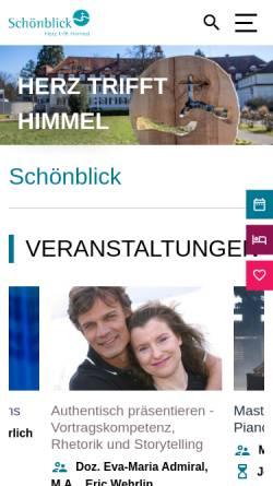 Vorschau der mobilen Webseite www.schoenblick-info.de, Freizeit- und Erholungsheim Schönblick