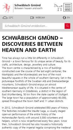 Vorschau der mobilen Webseite www.schwaebisch-gmuend.de, Stadt Schwäbisch Gmünd