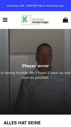 Vorschau der mobilen Webseite www.historische-bauelemente.de, Krüger Bauelemente