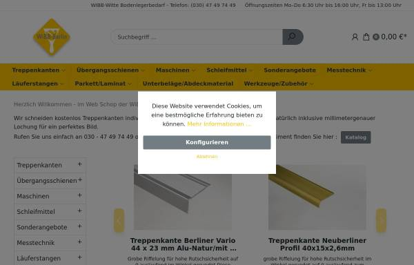 Vorschau von www.wibb-witte.de, WiBB Witte Bodenlegerbedarf GmbH
