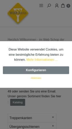 Vorschau der mobilen Webseite www.wibb-witte.de, WiBB Witte Bodenlegerbedarf GmbH
