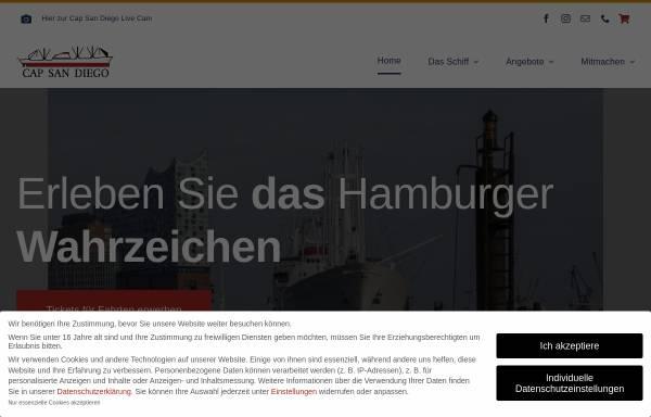 Vorschau von www.capsandiego.de, Hamburg, Museumsschiff Cap San Diego