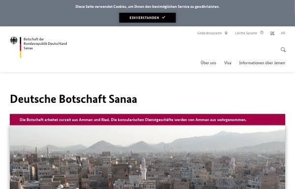 Vorschau von www.sanaa.diplo.de, Deutsche Botschaft in Sanaa