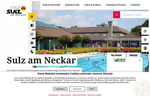 Vorschau von www.sulz.de, Stadt Sulz