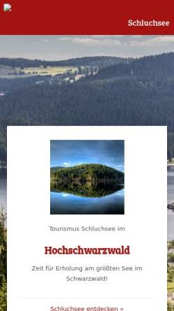 Vorschau der mobilen Webseite www.schluchsee.de, Schluchsee im Schwarzwald