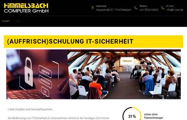 Vorschau von www.hi-com.de, Himmelsbach Computer GmbH