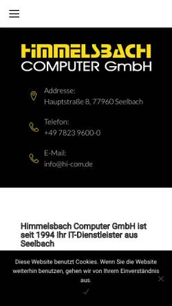 Vorschau der mobilen Webseite www.hi-com.de, Himmelsbach Computer GmbH
