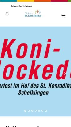 Vorschau der mobilen Webseite www.st.konradihaus.de, Jugendhilfeeinrichtung St. Konradihaus