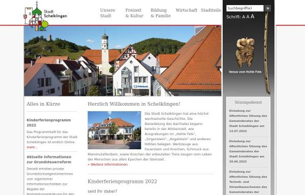 Vorschau von www.schelklingen.de, Stadt Schelklingen