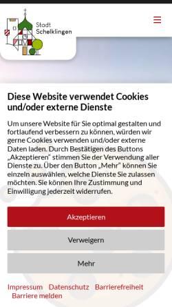 Vorschau der mobilen Webseite www.schelklingen.de, Stadt Schelklingen