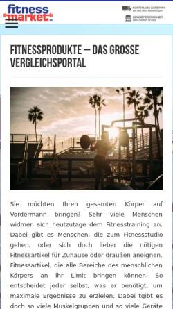 Vorschau der mobilen Webseite www.fitnessmarket.de, FitnessMarket.de