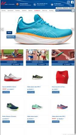 Vorschau der mobilen Webseite www.lang-und-lauf.de, Lang & Laufladen Sportartikel GmbH