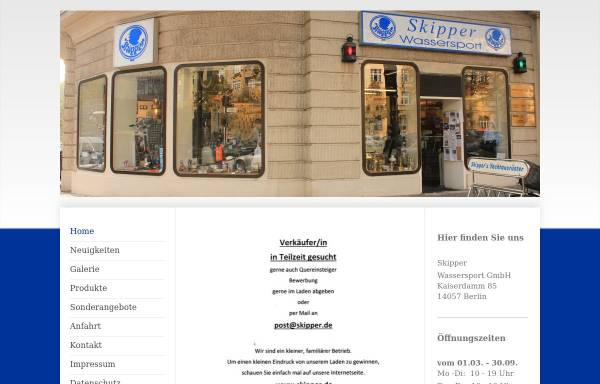 Vorschau von www.skipper.de, Skipper Wassersport GmbH