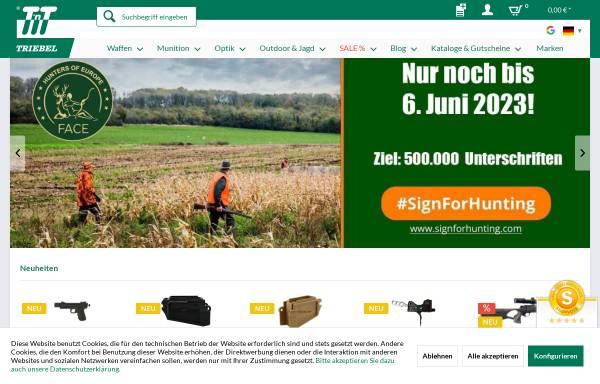 Vorschau von www.triebel.de, Triebel Waffen GmbH