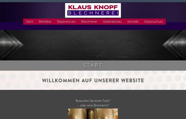 Vorschau von www.knopf-tank.de, Blechnerei-Apparatebau Klaus Knopf