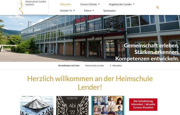 Vorschau von www.heimschule-lender.de, Heimschule Lender
