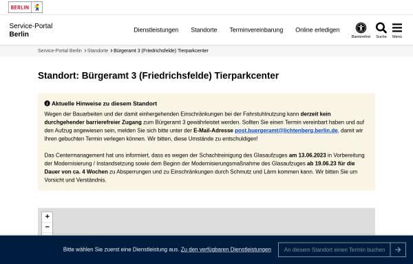 Vorschau von service.berlin.de, Bärenschaufenster - Center am Tierpark