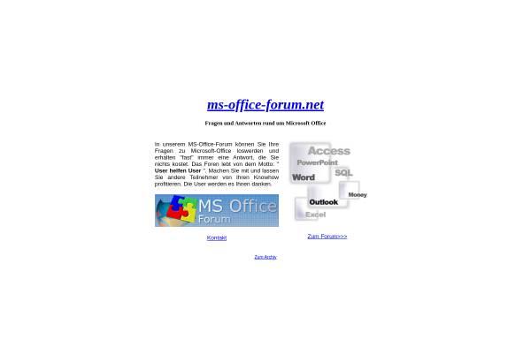Vorschau von www.ms-office-forum.net, MS-Office-Forum