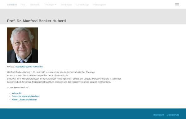 Vorschau von www.becker-huberti.de, Becker-Huberti, Dr. Manfred