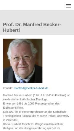 Vorschau der mobilen Webseite www.becker-huberti.de, Becker-Huberti, Dr. Manfred