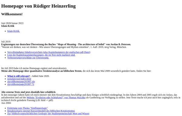 Vorschau von www.ruediger-heinzerling.de, Heinzerling, Rüdiger