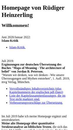 Vorschau der mobilen Webseite www.ruediger-heinzerling.de, Heinzerling, Rüdiger
