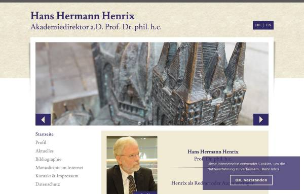 Vorschau von www.henrixhh.de, Henrix, Hans Hermann