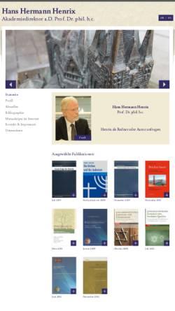 Vorschau der mobilen Webseite www.henrixhh.de, Henrix, Hans Hermann