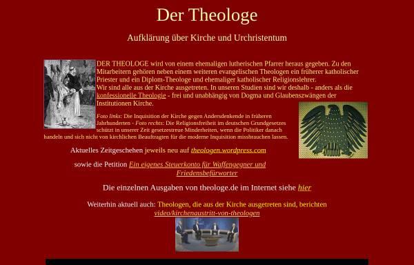 Vorschau von www.theologe.de, Der Theologe, Dieter Potzel