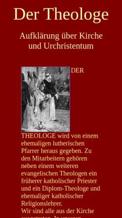 Vorschau der mobilen Webseite www.theologe.de, Der Theologe, Dieter Potzel