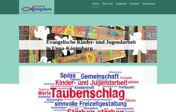 Vorschau von taubenschlag-koenigsborn.de, Kinder- und Jugendhaus Taubenschlag