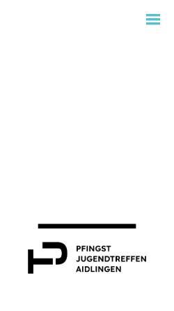 Vorschau der mobilen Webseite www.jugendtreffen-aidlingen.de, Pfingstjugendtreffen Aidlingen