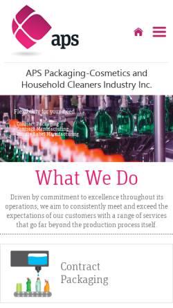 Vorschau der mobilen Webseite www.apsambalaj.com, APS Ambalaj Paketleme Sanayi ve Dis Ticaret A.S.