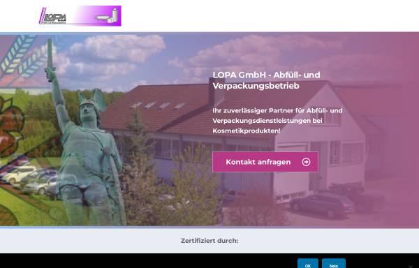 Vorschau von lopa-gmbh.de, Lopa GmbH