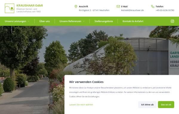 Vorschau von www.kraushaar.de, Garten- und Landschaftsbau Kraushaar GdbR
